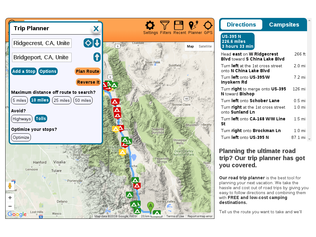 Free Camping Near You | Go Camping For Free! - California Tent Camping Map