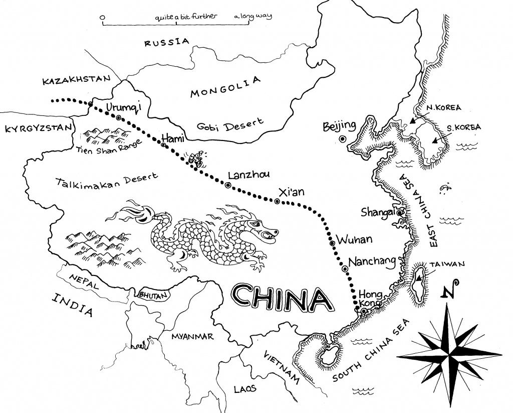 Free China Outline, Download Free Clip Art, Free Clip Art On Clipart - Printable Map Of China For Kids