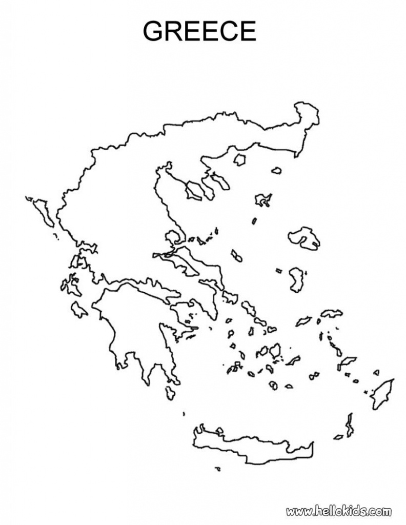 Free Coloring Maps For Kids   Greece Coloring Page   Ελλαδα Μου - Outline Map Of Ancient Greece Printable
