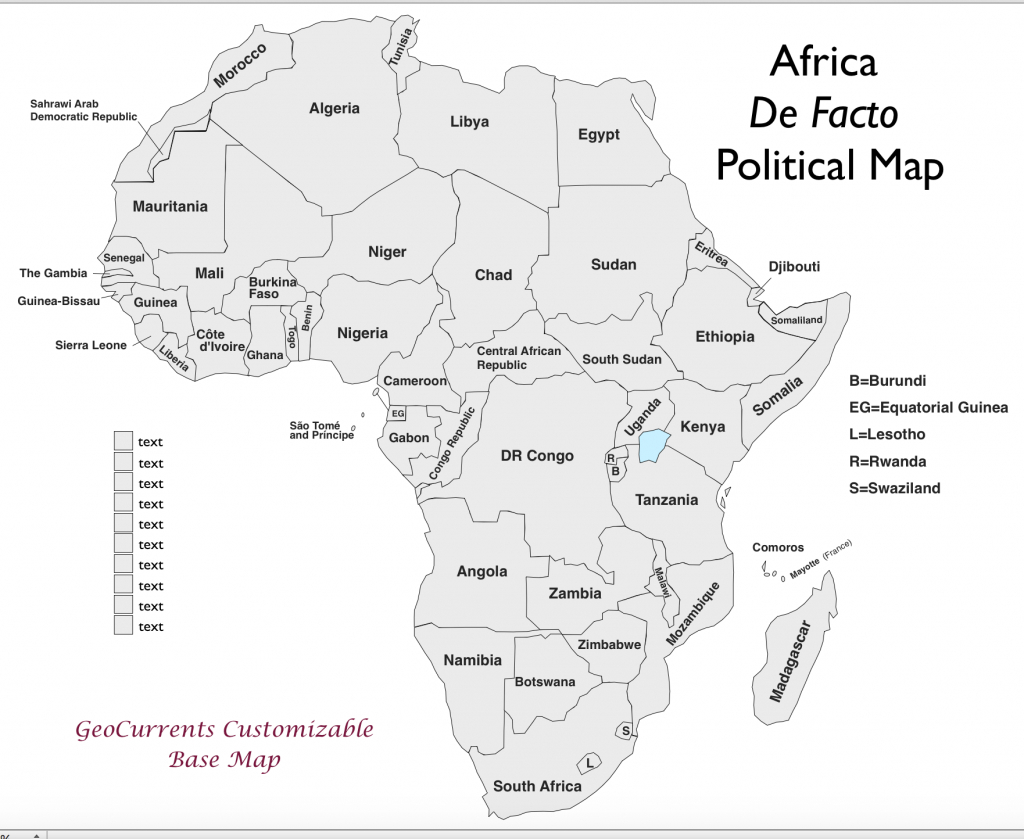 Free Customizable Maps Of Africa For Download - Free Printable Map Of Africa With Countries