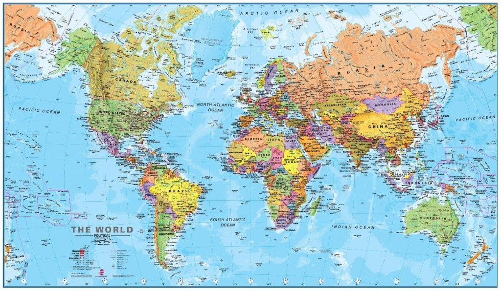 Free Hd Political World Map Poster Wallpapers Download | World Map - World Map Poster Printable