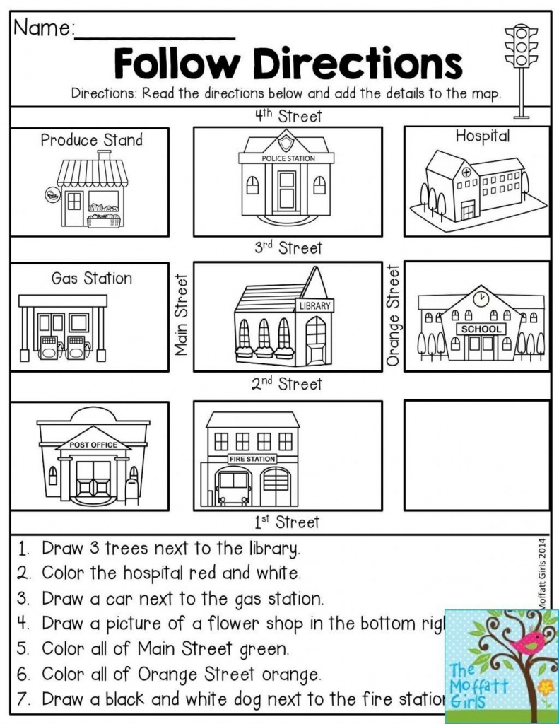Free Map Skills Worksheets Math Worksheets Free Printable Following - Free Printable Map Activities
