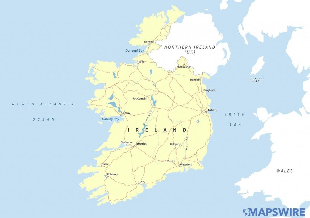 Free Maps Of Ireland – Mapswire - Free Printable Map Of Ireland