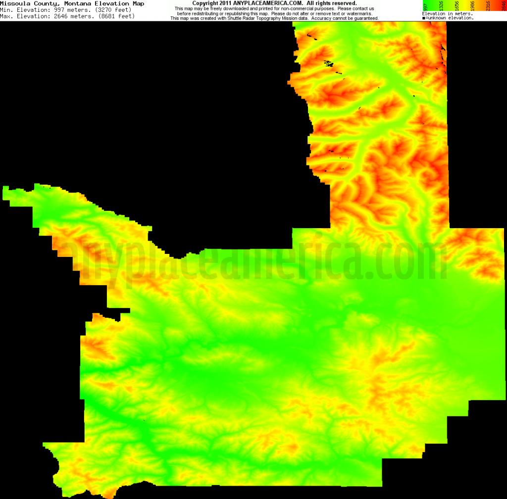 Free Missoula County, Montana Topo Maps & Elevations - Printable Missoula Map