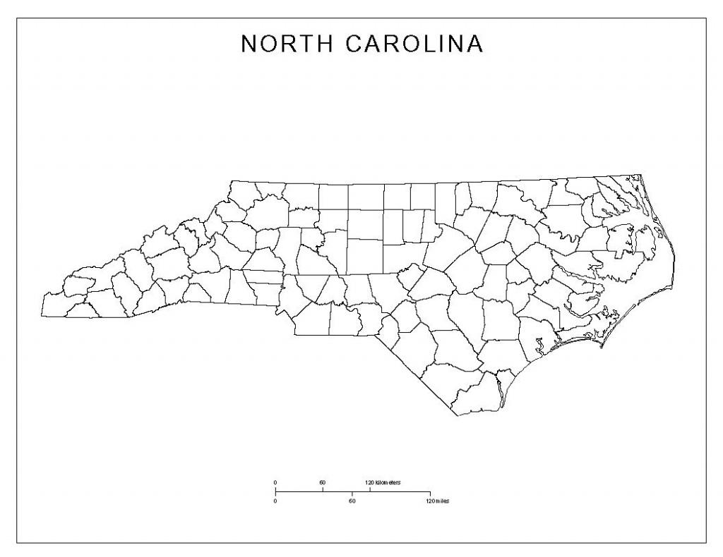 Free North Carolina Map   North Carolina Blank Map   North Carolina - Printable Nc County Map