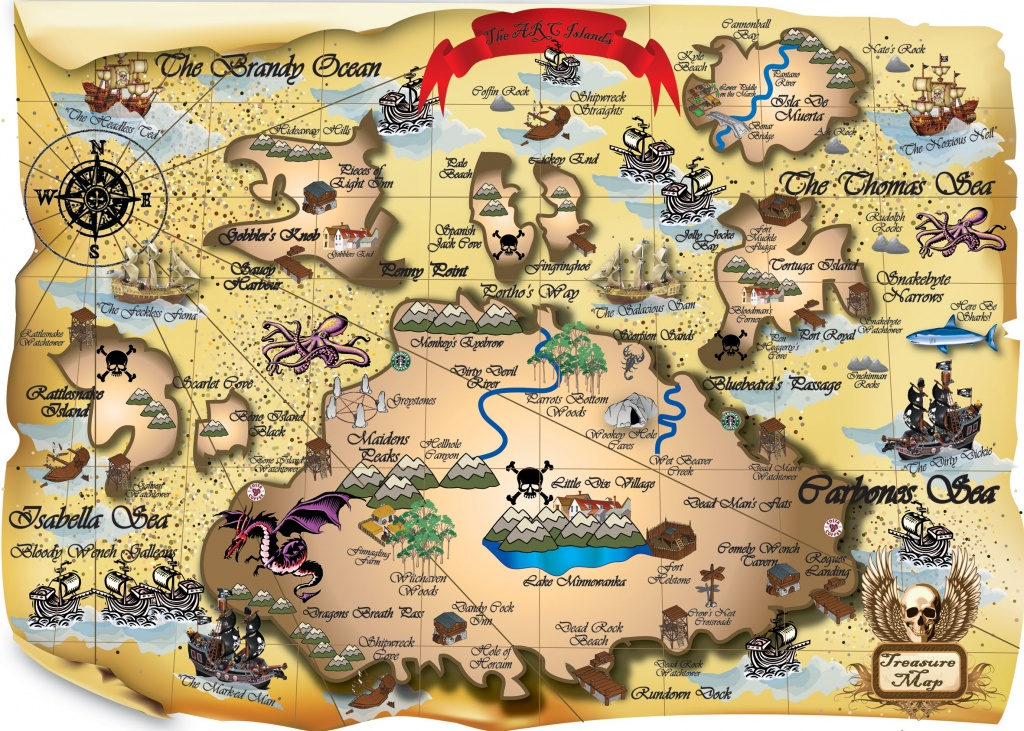 Free Pictures Of A Pirate Map, Download Free Clip Art, Free Clip Art - Printable Kids Pirate Treasure Map