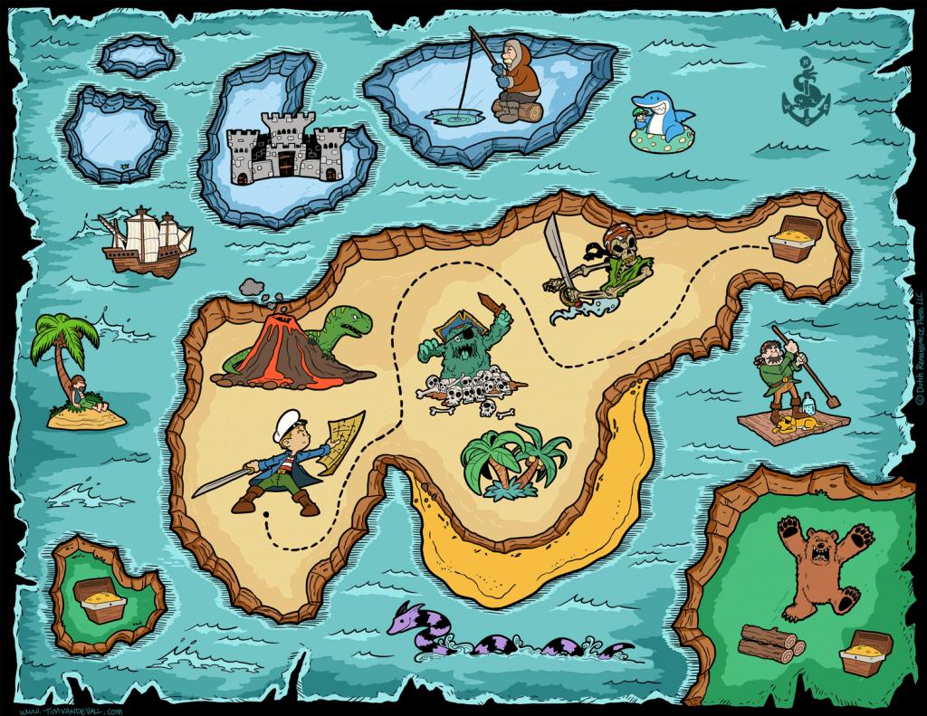 Free Pirate Treasure Maps For A Pirate Birthday Party Treasure Hunt - Free Printable Treasure Map