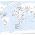Free Printable Black And White World Map With Countries Labeled And   Free Printable World Map With Country Names