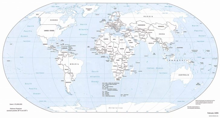Free Printable World Map With Country Names