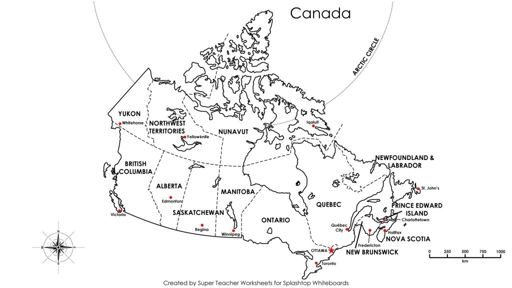 Free Printable Map Canada Provinces Capitals - Google Search - Free Printable Map Of Canada Provinces And Territories
