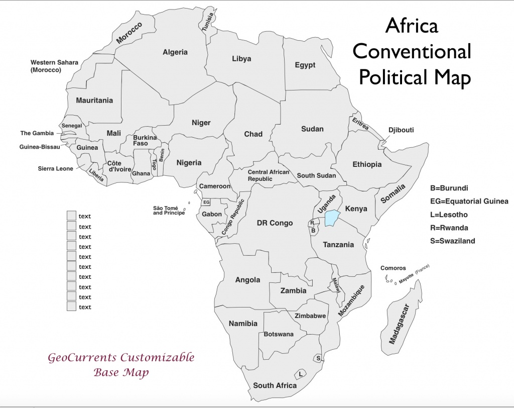 Free Printable Map Of Africa | Sitedesignco - Free Printable Political Map Of Africa