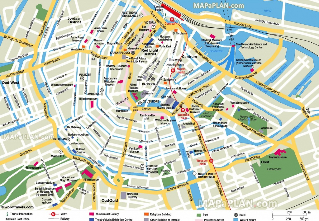 Free Printable Map Of Amsterdam - Google Search | Earth/environment - Printable Tourist Map Of Amsterdam