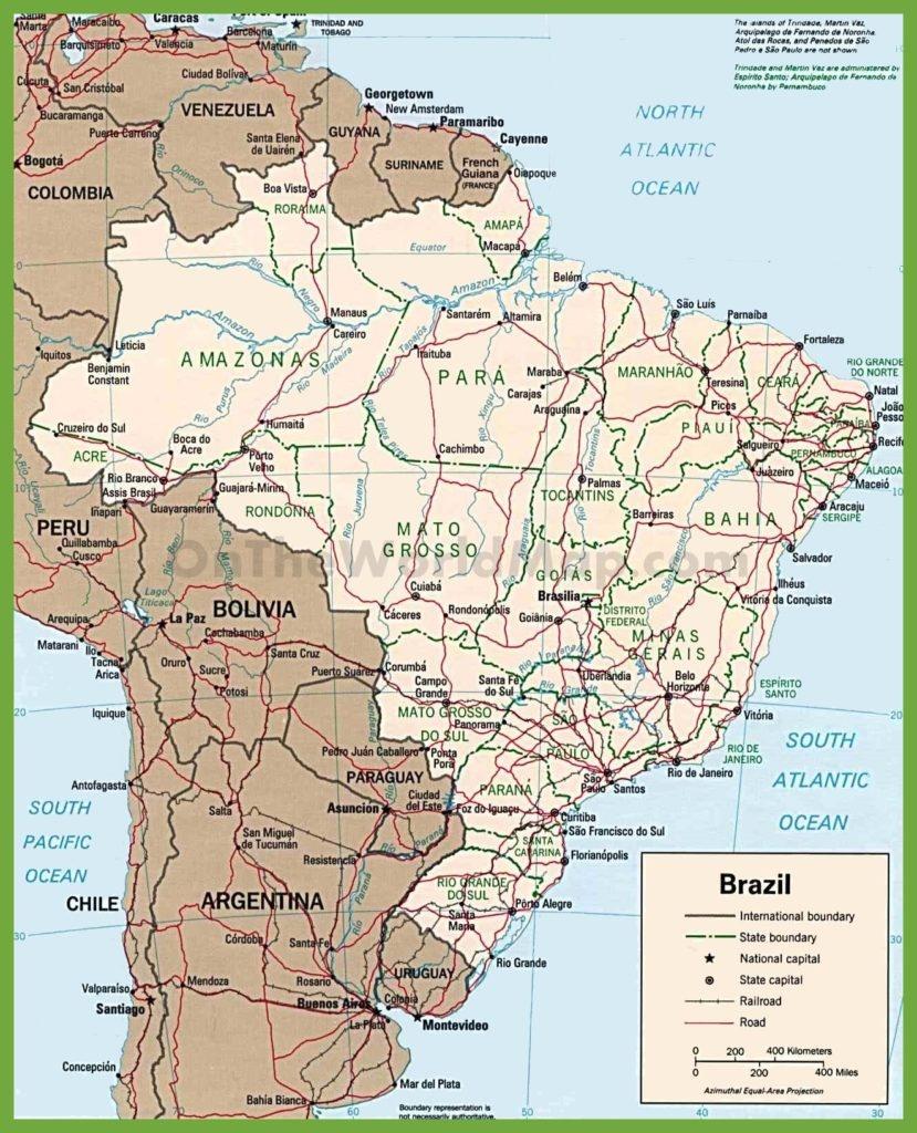 Free Printable Map Of Brazil | Mir-Mitino - Free Printable Map Of Brazil