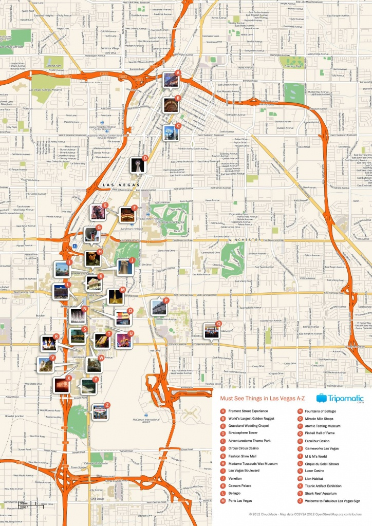 Free Printable Map Of Las Vegas Attractions.   Free Tourist Maps - Las Vegas Tourist Map Printable