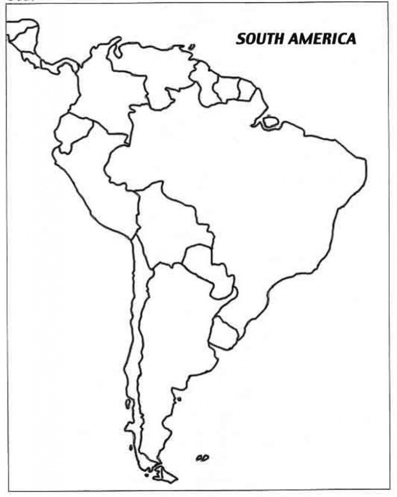 Free Printable Map Of South America And Travel Information - Printable Blank Map Of South America