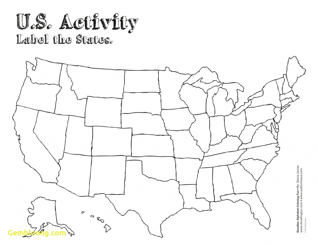 Free Printable Map Of The United States | D1Softball - Free Printable Blank Map Of The United States