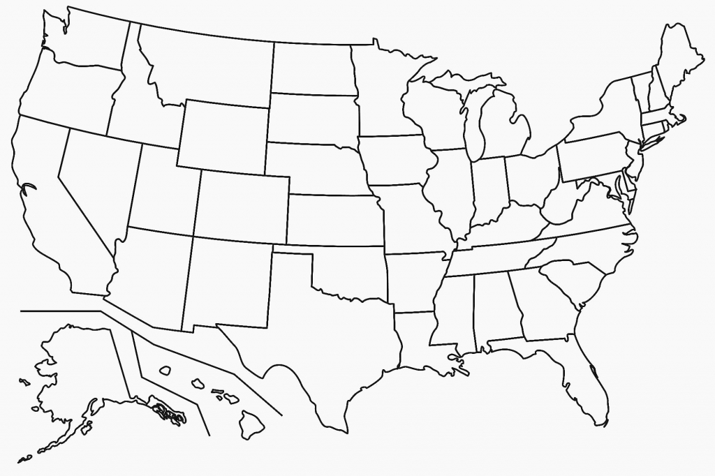 Free Printable Map Of The United States | D1Softball - Free Printable Map Of The United States