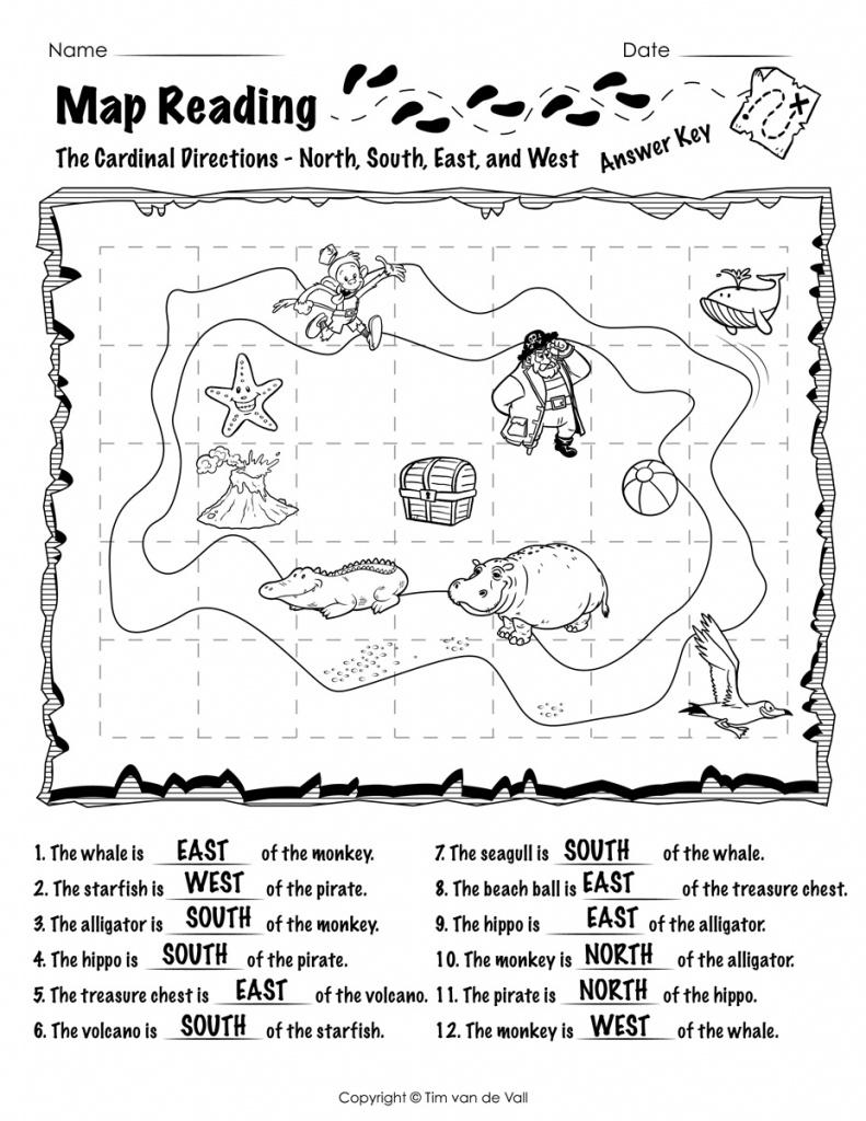 Free Printable Map Reading Worksheets - Tim's Printables - Printable Map Activities