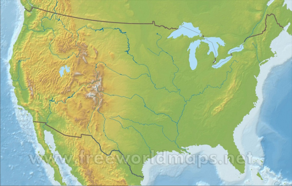 Free Printable Maps Of The United States - Printable Topographic Map Of The United States
