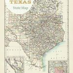 Free Printable Old Map Of Texas From 1885. #map #usa | Free   Free Old Maps Of Texas