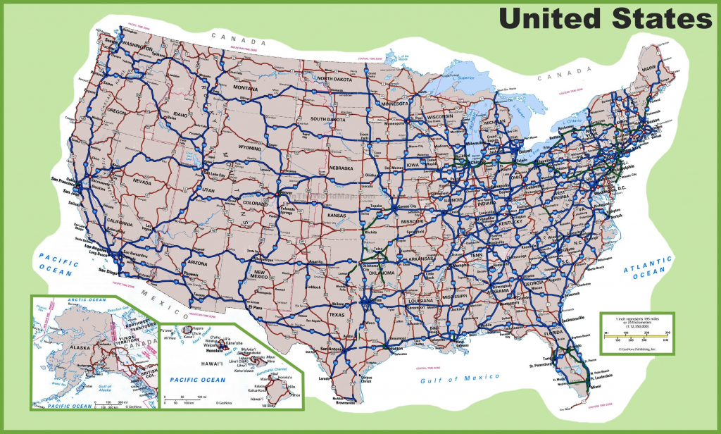 Free Printable Us Highway Map Cities Highways Usa Incredible At Of - Printable State Maps With Highways