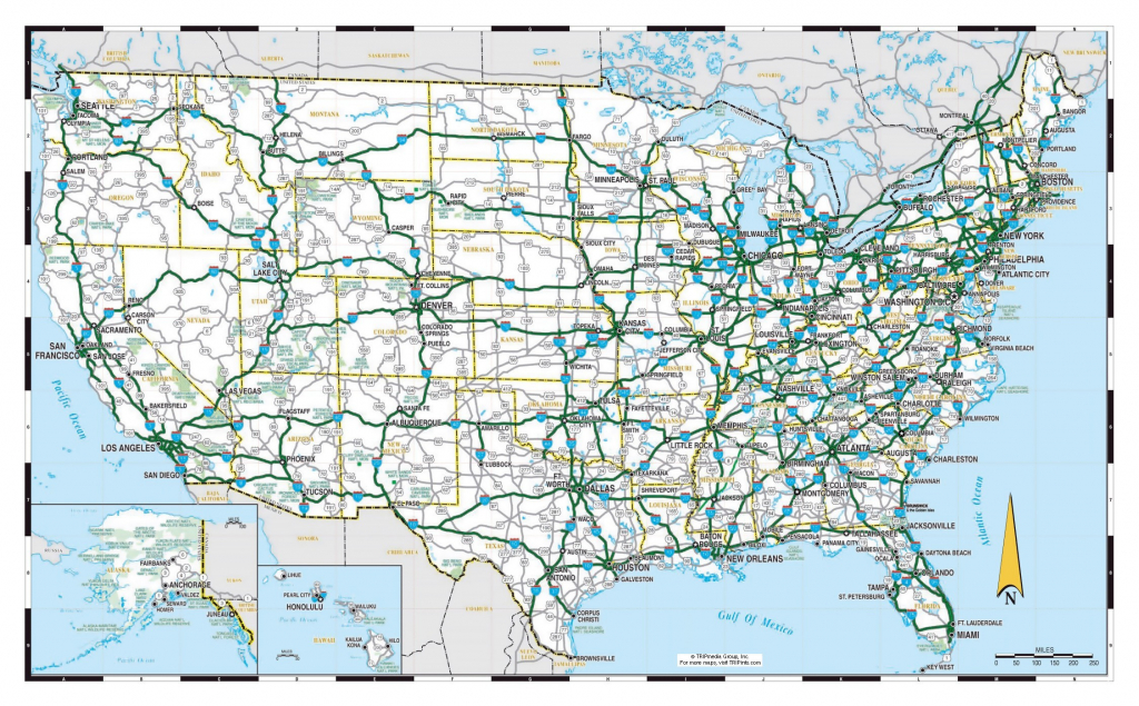 Free Printable Us Highway Map Usa Road Map Unique United States - Free Printable Road Maps Of The United States