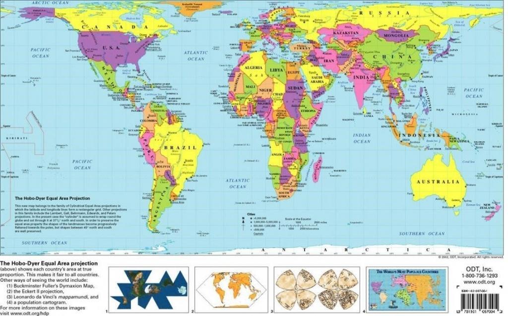 Free Printable World Map   D1Softball - Free Printable World Map