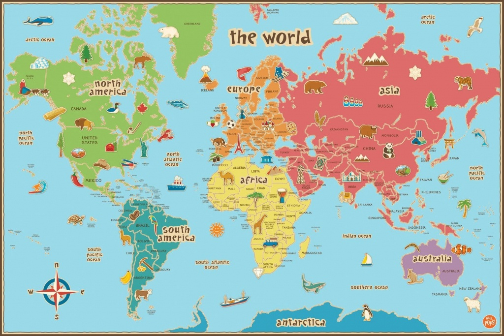 Free Printable World Map For Kids Maps And | Vipkid | Kids World Map - Kid Friendly World Map Printable