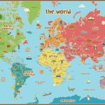Free Printable World Map For Kids Maps And | Vipkid | World Map Wall - Free Printable Custom Maps