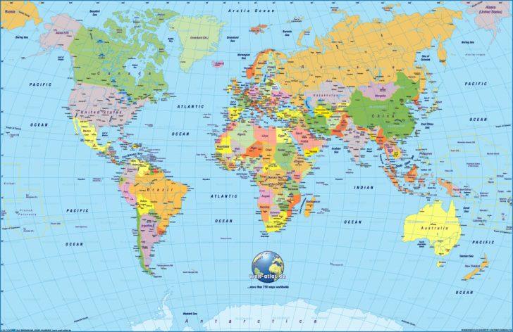 Labeled World Map Printable
