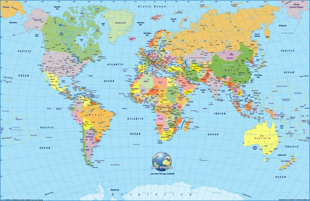 Free Printable World Maps | Sitedesignco - Labeled World Map Printable
