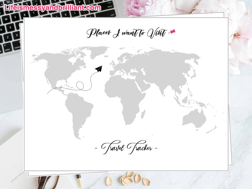 Free Travel Tracker Printable - Printable Travel Map
