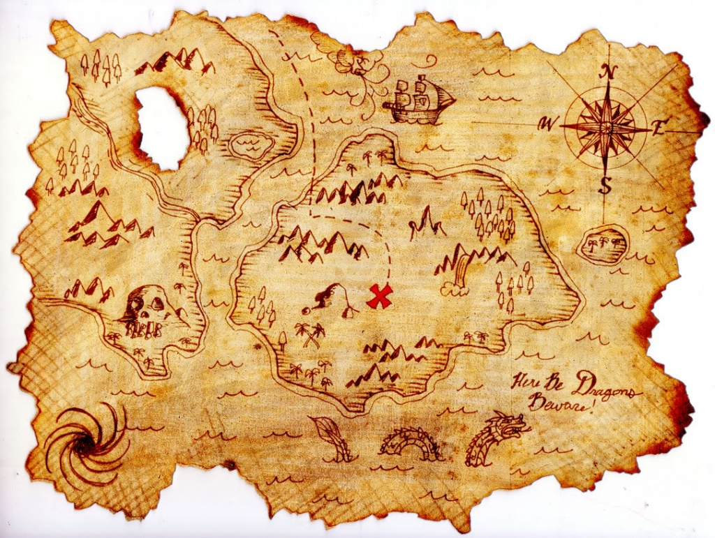 Free Treasure Map Outline, Download Free Clip Art, Free Clip Art On - Free Printable Treasure Map