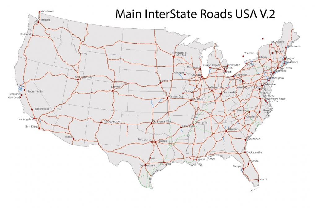 Free United States Road Map And Travel Information | Download Free - Free Printable Road Maps Of The United States