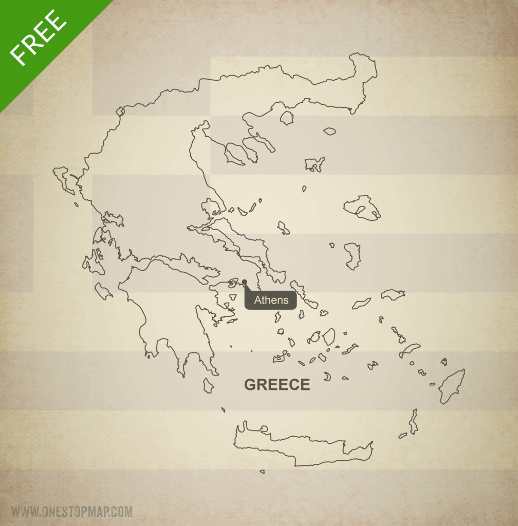 Free Vector Map Of Greece Outline | One Stop Map - Outline Map Of Greece Printable