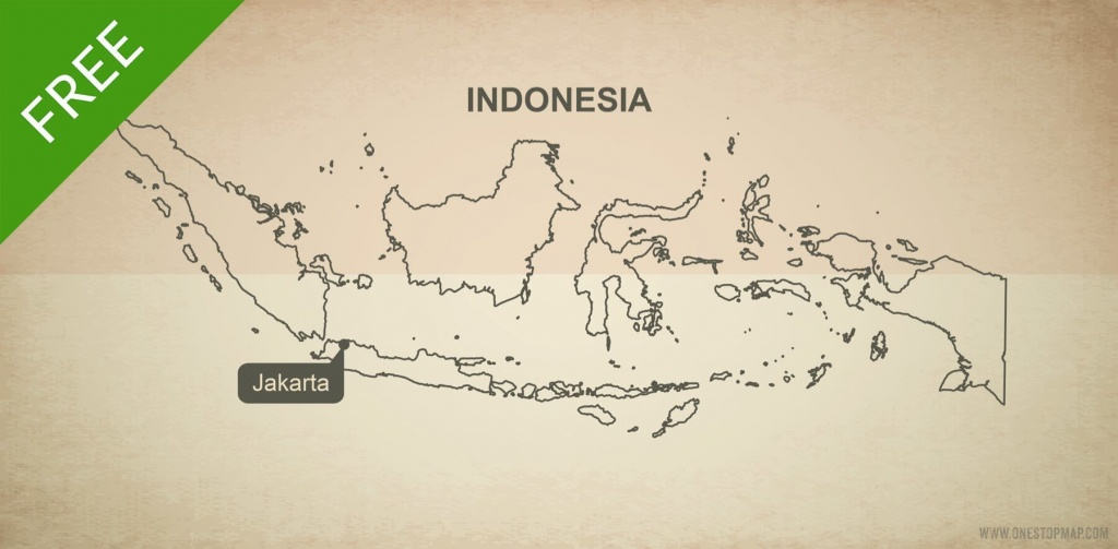 Free Vector Map Of Indonesia Outline | One Stop Map - Printable Map Of Indonesia