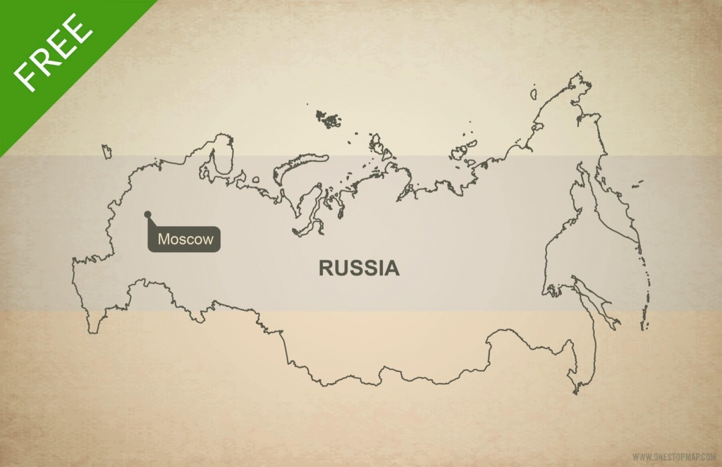 Free Vector Map Of Russia Outline | One Stop Map - Russia Map Outline Printable