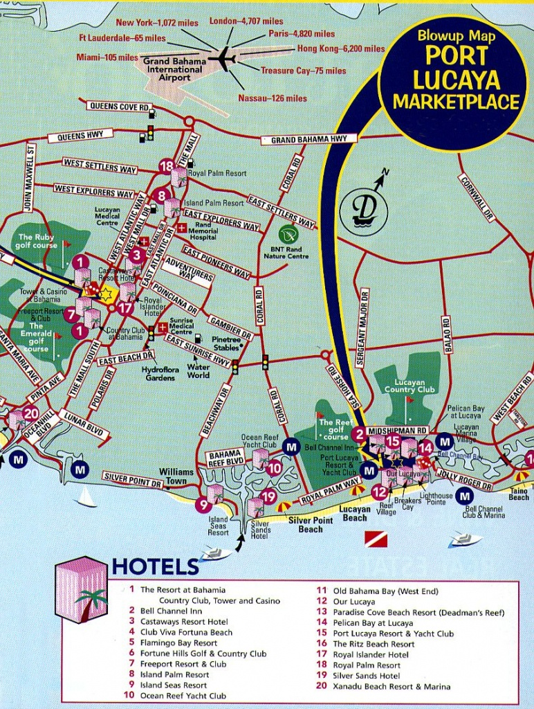 Freeport Tourist Map - Freeport Bahamas • Mappery | Vacation - Map Of Carnival Cruise Ports In Florida