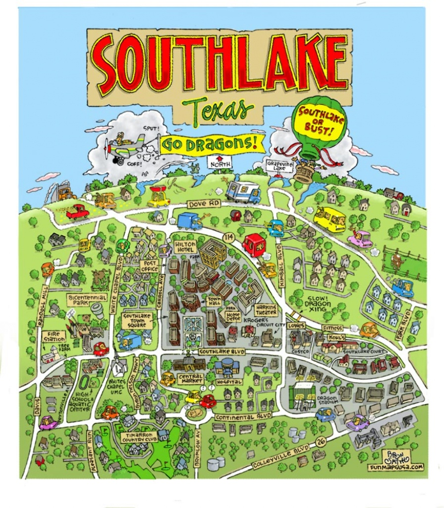 Fun Maps Usa - Where Is Southlake Texas On A Map Of Texas