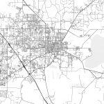 Gainesville, Florida - Area Map - Light | Hebstreits Sketches - Where Is Gainesville Florida On The Map