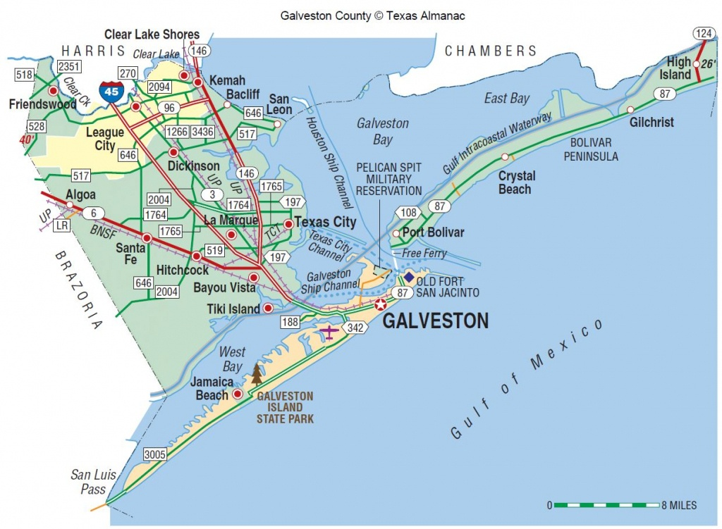 Galveston County | The Handbook Of Texas Online| Texas State - Texas Galveston Map