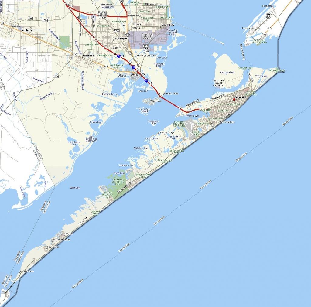 Galveston Island, Texas Map - Travel Fan Art (557806) - Fanpop - Texas Galveston Map