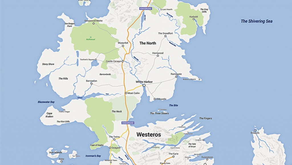 Game Of Thrones' Map: Fan Creates Google Maps Version Of Westeros - Printable Map Of Westeros
