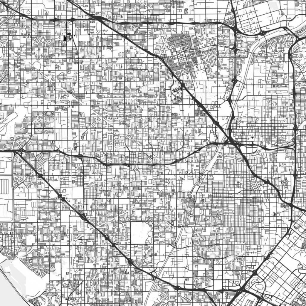 Garden Grove, California - Area Map - Light | Hebstreits Sketches - Where Is Garden Grove California On The Map