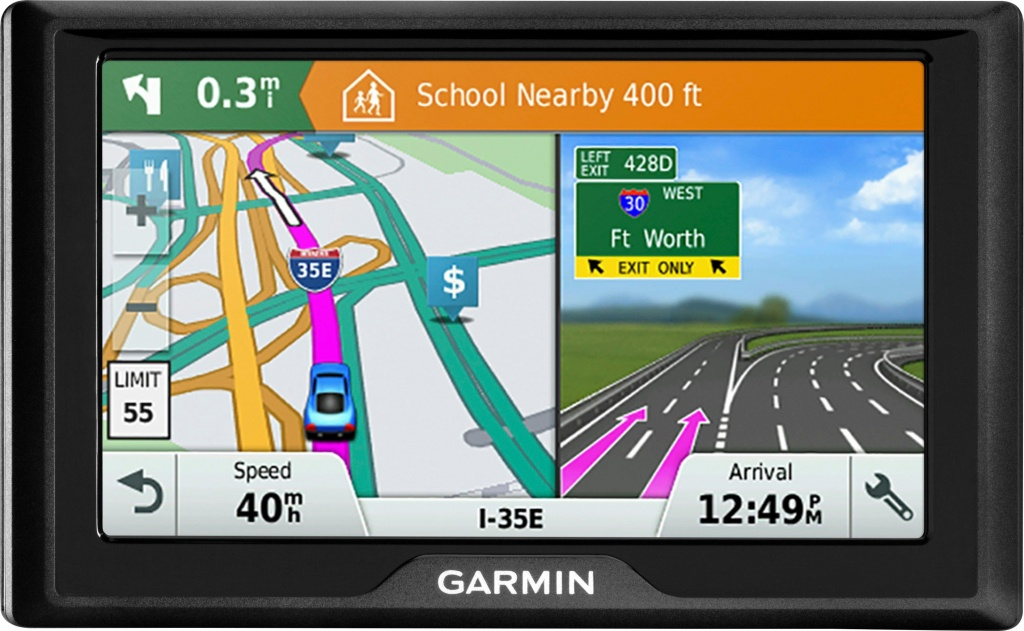 "Garmin Drive 51 Lm 5"" Gps With Lifetime Map Updates Black 010-01678 - Garmin California Map"