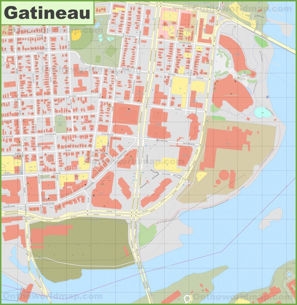 Gatineau (Hull) Downtown Map - Hull Texas Map