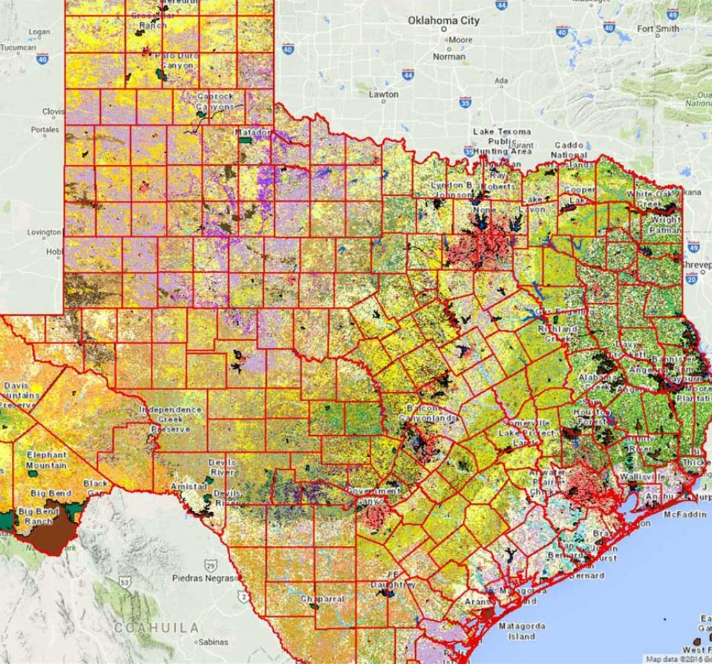 Geographic Information Systems (Gis) - Tpwd - Texas Land For Sale Map
