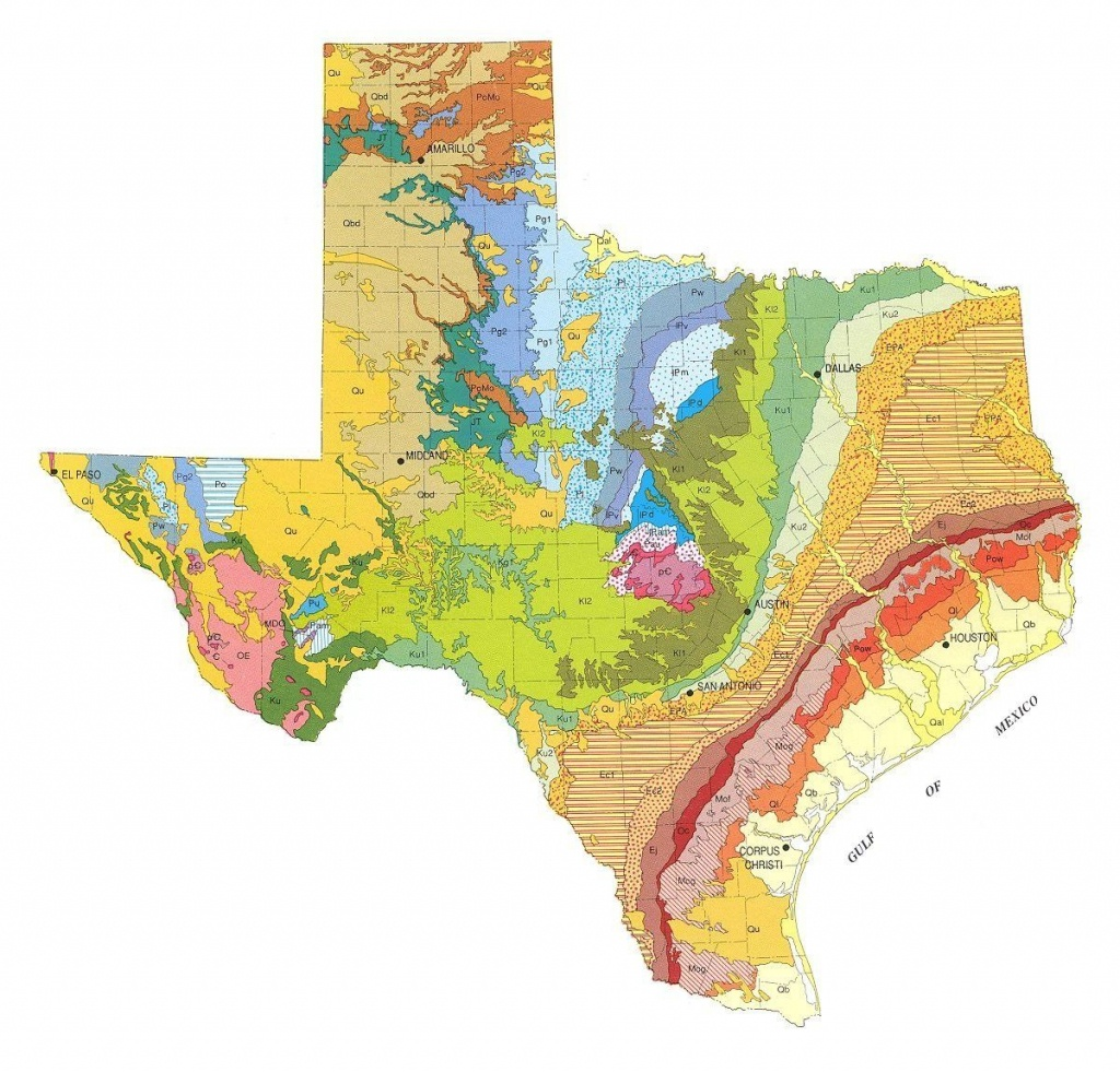 Geologic Maps Of The 50 United States In 2019 | Colorpatterndesign - Gold Prospecting In Texas Map