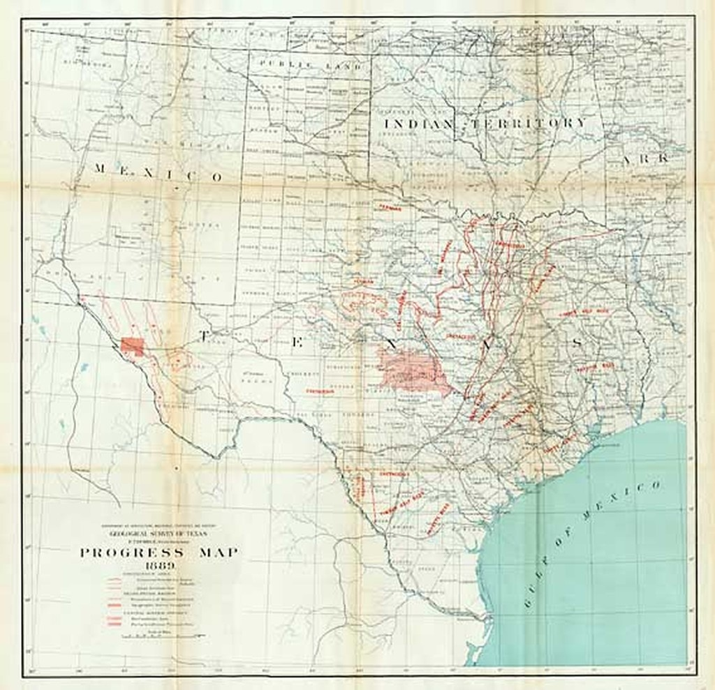 Geological Survey Of Texas E.t. Dumble State Geologist. Progress Map - Texas Geological Survey Maps