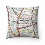 Georgetown Texas Vintage Map Pillow Georgetown Pillow   Etsy   Texas Map Pillow